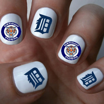 Detroit Tigers Mlb Baseball Nail Art Decals Stickers