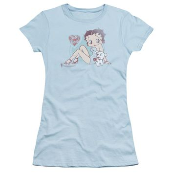 Betty Boop - Vintage Pin Pup Short Sleeve Junior Sheer