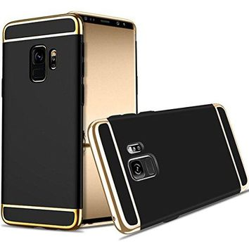 For Galaxy S9 Plus Case,JOBSS Hybrid Luxury Shockproof Armor Back Ultra-thin Case Cover Removable case for Samsung Galaxy S9 Plus Black
