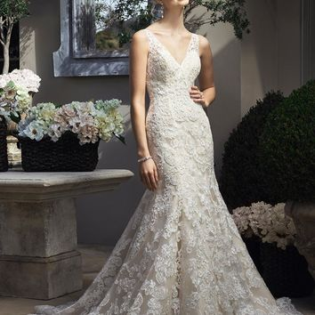 Casabanca Bridal 2206 Lace Fit and Flare Wedding Dress