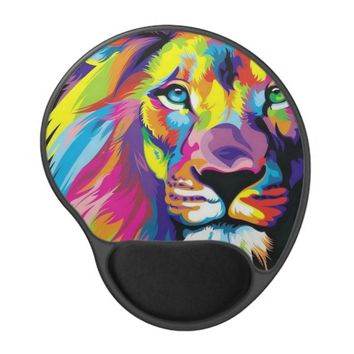 Colorful Lion Gel Mouse Pad