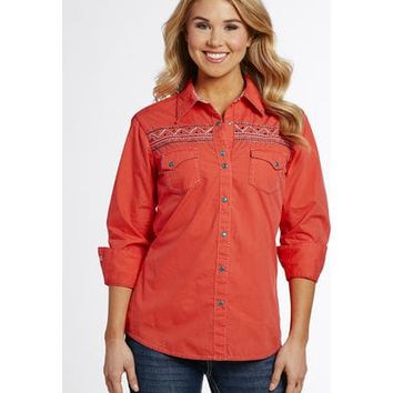 Cowgirl Up Women's Embroidered Snap Shirt