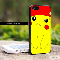 iPhone case#pokemon pikachu cute Photo on Hard Cover For iPhone 4/4Scase