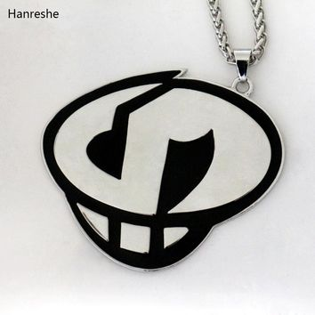 HANRESHE New in 2Colors  Sun and Moon Team Skull Grunts Game Hip hop Steampunk Chain Necklace fashion jewelryKawaii Pokemon go  AT_89_9