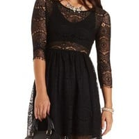 Scalloped Lace Babydoll Dress by Charlotte Russe