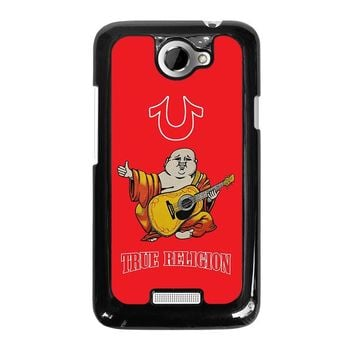 RED BIG BUDDHA TRUE RELIGION  HTC One X Case Cover