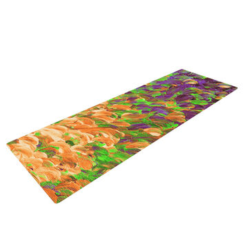 "Ebi Emporium ""Follow the Current III"" Orange Green Yoga Mat"