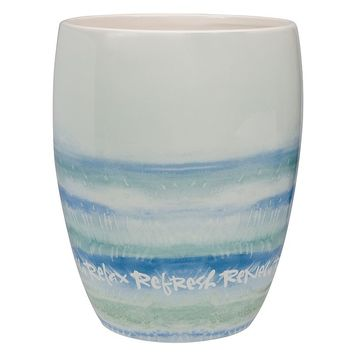 Kathy Davis Splash Wastebasket (Blue)