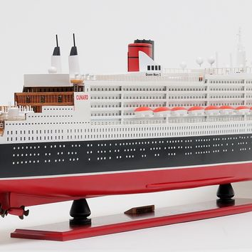 Queen Mary II L Hancrafted Cruise Ships Models