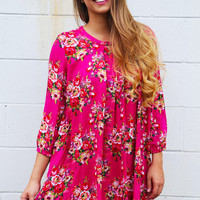 Floral Getaway Shift Dress