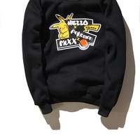 Autumn With Pocket Long Sleeve Pullover Hoodies [9070637571]