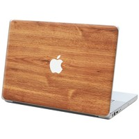 """Brown Maple """"Protective Decal Skin"""" for Macbook 15"""" Laptop"""