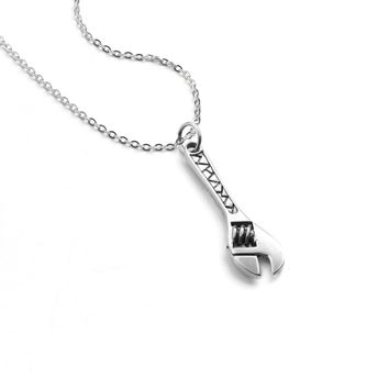 Adjustable Wrench Pendant Necklace