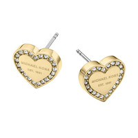 Michael Kors Logo Heart Stud Earrings | Dillards