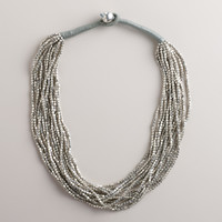 Silver Multi-Strand Necklace - World Market