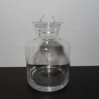Vintage Laboratory Style Cylindrical Round Glass Decanter/Bottle