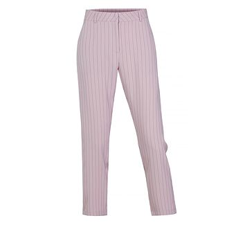 LE3NO Womens Classic Work Office Pin Striped Straight Leg Full Length Pants