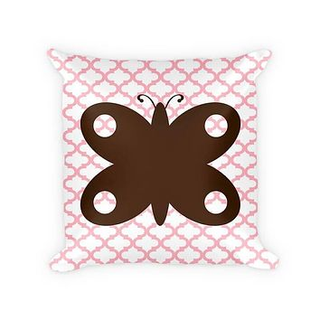 Butterfly I Children's Woven Cotton Throw Pillow