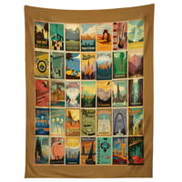 Anderson Design Group City Pattern Border Tapestry