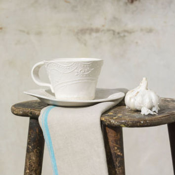 Peasant Soup Cup And Saucer