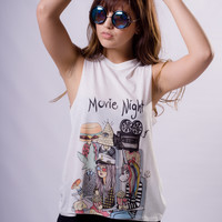 """Movie Night"" Muscle Tee"