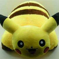 Pikachu Pokemon Plush Pillow Stuffed Doll Anime Plushie Soft Toy Cushion Large