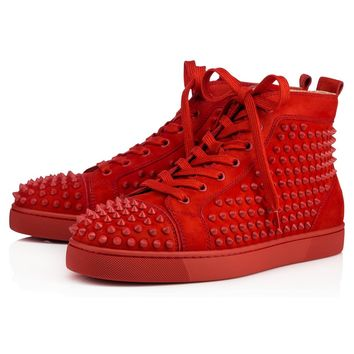 Christian Louboutin Louis Spikes Men s Women s Flat Tomette Tome. Shoes ... 50651be7ef