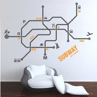 Wall Decal Subway - Vinyl Wall Decals