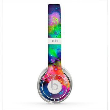 The Neon Splatter Universe Skin for the Beats by Dre Solo 2 Headphones