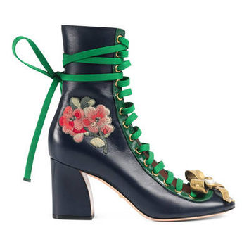 Gucci Finnlay leather ankle boot