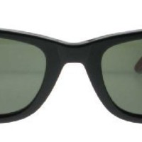 Ray-Ban RB2140 Original Wayfarer Sunglasses 50 mm,Black On Red Texture frame/Crystal Green lens
