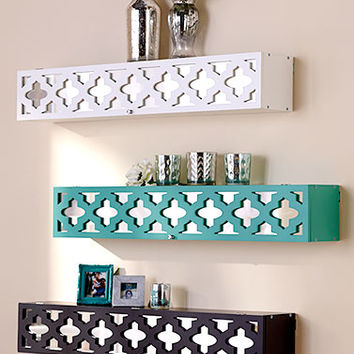 Mirrored Wall Shelves with Storage
