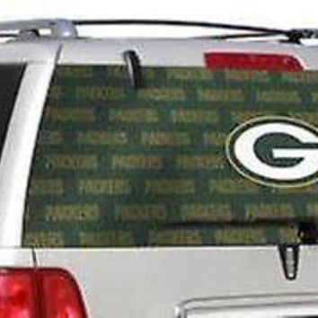CUPUPI8 Green Bay Packers Full Rear Auto Window Film Decal Graphics Sticker Football