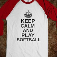 Keep Calm And Play Softball - Twins