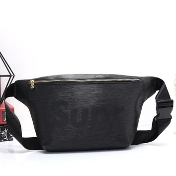 Louis Vuitton LV x Supreme Woman Men Fashion Leather Waist Bag Shoulder Bag Crossbody