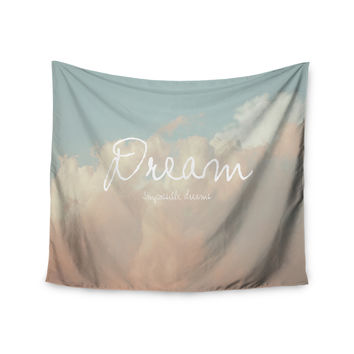"Suzanne Carter ""Dream"" Quote Clouds Wall Tapestry"