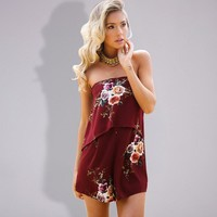 East Coast Floral Rompers