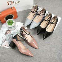 Dior Women Fashion Casual Heels Shoes Slipper Shoes
