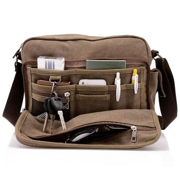New Arrival: Durable Men's Canvas Messenger Laptop Bag