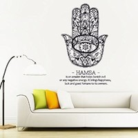 Wall Decal Vinyl Sticker Decals Art Decor Design Hamsa Hands yin yang Indian Buddha Ganesh Lotos Modern Bedroom Dorm Office Mural (r1163)