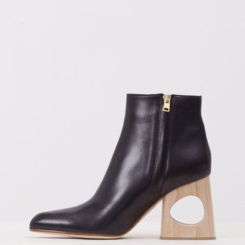 Totokaelo - Marni Black Punched Heel Ankle Boot - $890.00