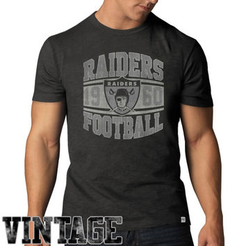 47 Brand Oakland Raiders Scrum Vintage T-Shirt - Charcoal
