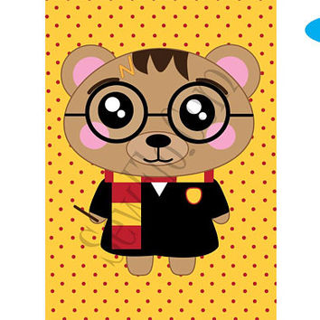 "NEW! Potter Art Print | Harry Potter Print | 5"" X 7"" Poster 