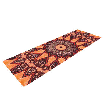 "Iris Lehnhardt ""Colors of Africa"" Brown Orange Yoga Mat"
