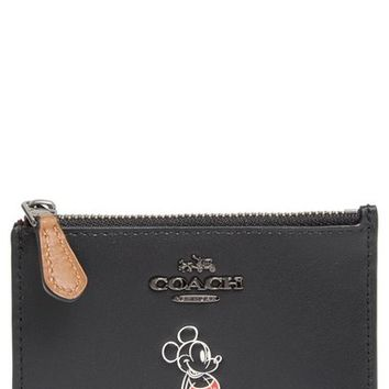 COACH x Disney Mickey Mouse® Skinny Card Case | Nordstrom