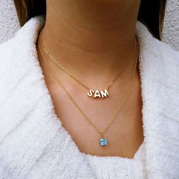 Capital Letter Layered Necklace
