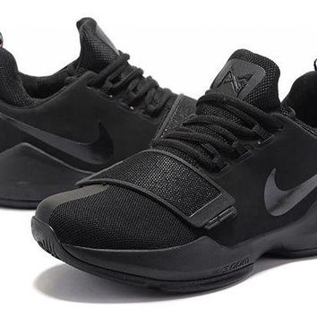 ONETOW Nike Zoom PG 1 Black Basketball Shoe