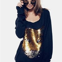 Wildfox Sequin White Label Lion King Sweater