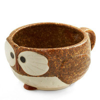 Know It Owl Mug in Coffee | Mod Retro Vintage Kitchen | ModCloth.com