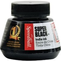 Amazon.com: Speedball 2-Ounce India Ink, Super Black: Arts, Crafts & Sewing